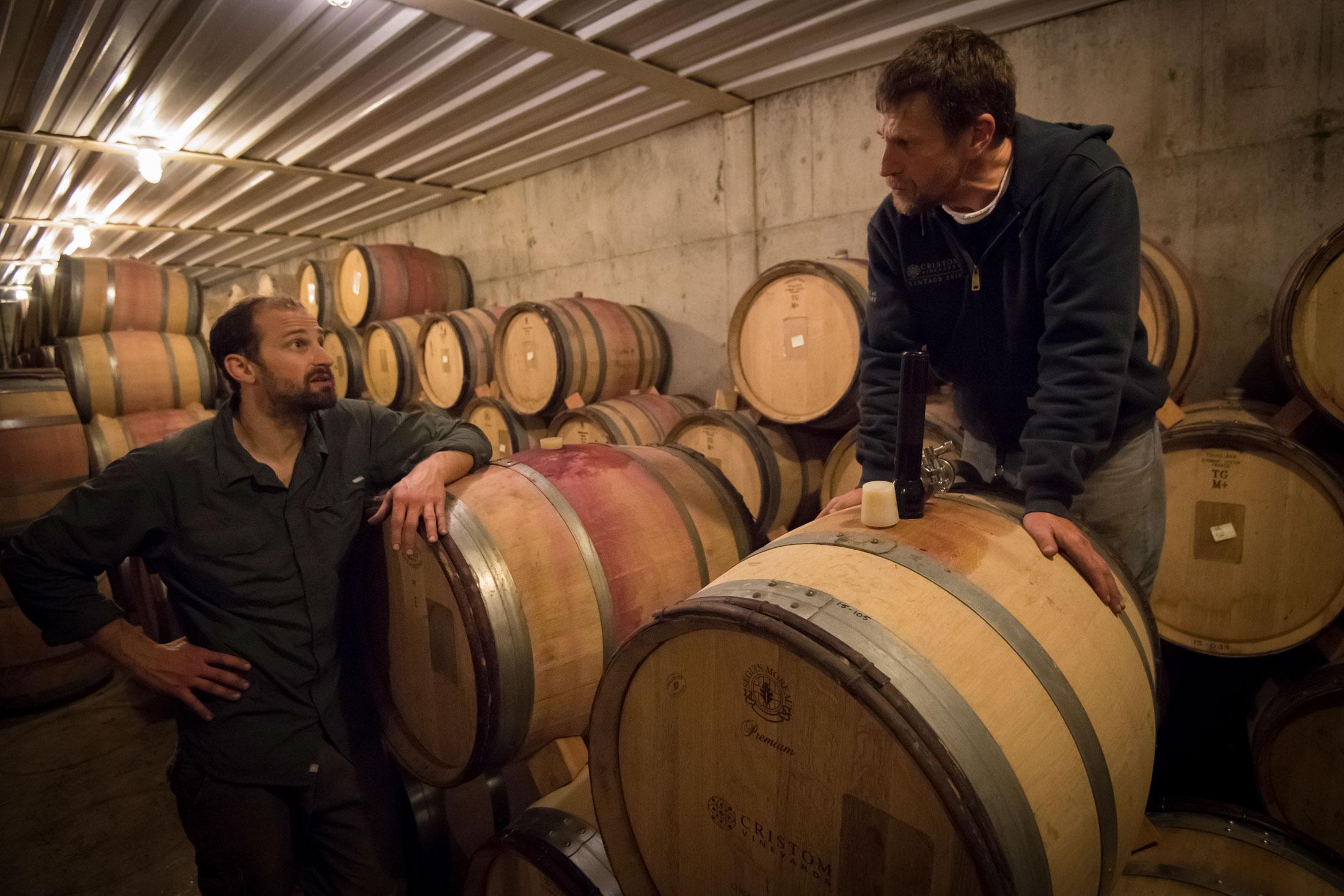 Barreling decision making at Cristom Vineyards