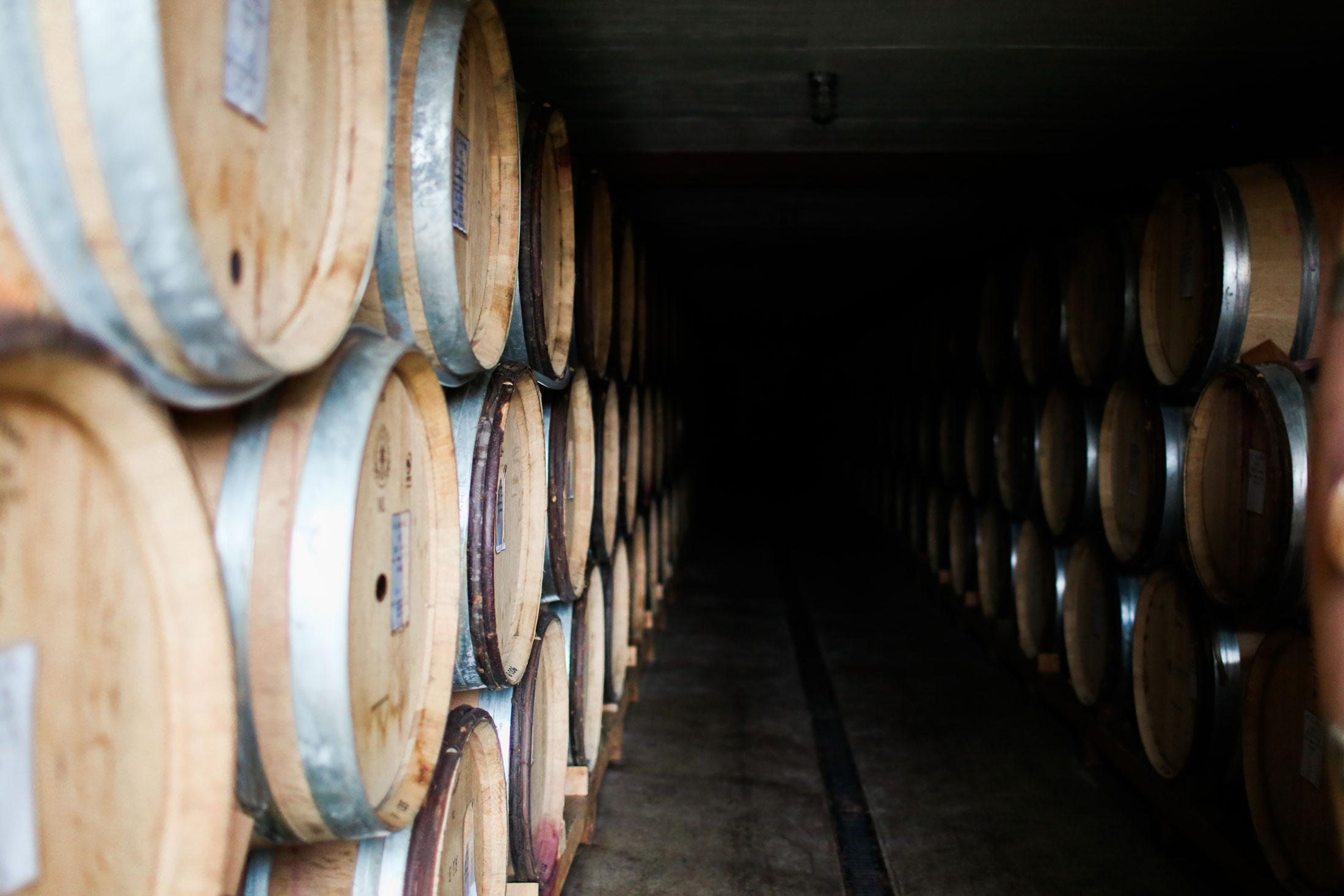 Cristom Vineyards barrel hall