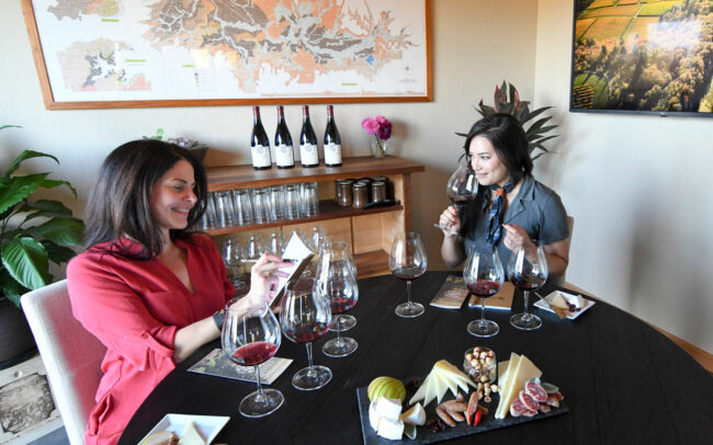 Guests enjoy private, seated tastings at Cristom Vineyards