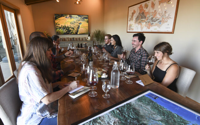 Interactive, seated tastings at Cristom Vineyards