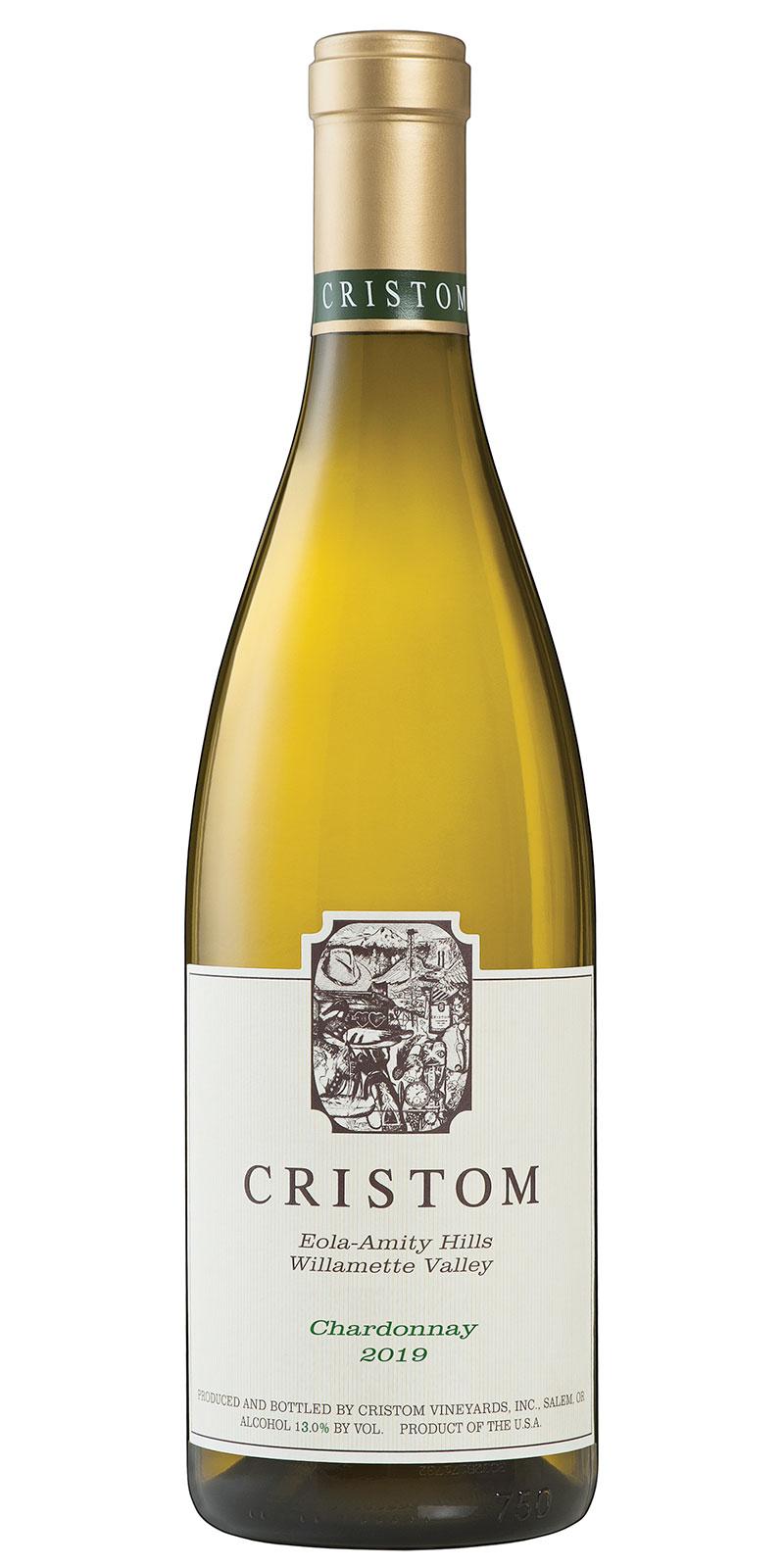 Cristom Eola-Amity Hills Willamette Valley Chardonnay 2019 bottle