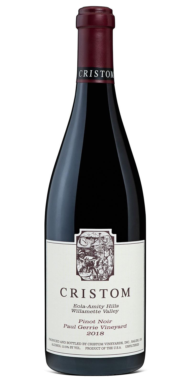 Cristom Eola-Amity Hills Willamette Valley Pinot Noir Paul Gerrie Vineyard 2018 bottle